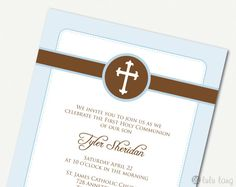 Simple First Communion Baptism Christening or by lululangs on Etsy, $10.00