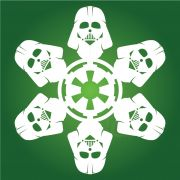 Darth Vader - Star Wars Snowflake Collection! Downloadable diagrams!