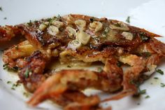 Sauteed Soft Shell Crabs w Garlic Butter