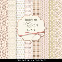 Far Far Hill - Free database of digital illustrations and papers: New Freebies Background Kit - Winter & Сocoa