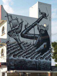Cozumel, Cozumel, Mexico — by Jan Venter. New street art in Cozumel. The detail in this painting is quite something. Maybe on of my favourites so far.