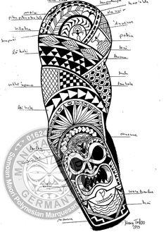 Fiji Tattoo, Kritzelei Tattoo, Doodle Tattoo, Polynesian Tattoo Meanings, Polynesian Tattoo Designs, Maori Tattoo Designs, Tattoo Sleeve Designs, Bff Tattoos, Body Art Tattoos