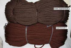 Шнур для вязания ковра 5мм полиэфирный темно коричневый с сердечником - Шнуры для рукоделия