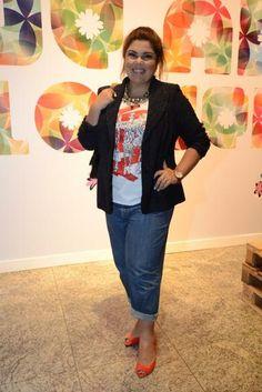 Blazer de Fabiana Karla é lição fashion para mulher curvilínea