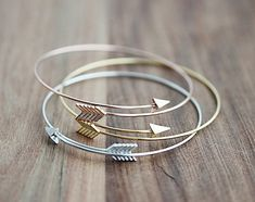 Aria Arrow Open Bangle Bracelet - Free Shipping