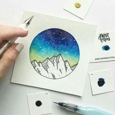 Aquarell – Thalia visio Aquarell – Thalia visio – The post Aquarell – Thalia visio appeared first on Frisuren Tips - People Drawing Galaxy Painting, Love Painting, Painting & Drawing, Painting Tattoo, Drawing Drawing, Art Sketches, Art Drawings, Tattoo Sketches, Art Du Croquis
