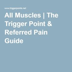 All Muscles   The Trigger Point & Referred Pain Guide Referred Pain, Health Heal, Scoliosis, Trigger Points, Healing, Muscles, Manual, Textbook, Muscle