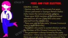 For reading more about Free and Fair Election Constitution then CLICK on the image and read more about it... | DOWNLOAD What is Democracy Why Democracy Class 9 Notes BY CLICKING ON IMAGE | #What_is_Democracy_Why_Democracy_Class_9_Notes #Free_and_Fair_Election_Constitution #Free_and_Fair_Election_in_china