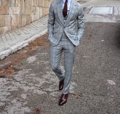 Street Suit by Absolute Bespoke. Sharp Dressed Man, Well Dressed Men, Dress Suits, Men Dress, Prom Tuxedo, Bespoke Suit, Suit And Tie, Gentleman Style, Stylish Men