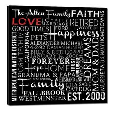 "Typography ""ELITE"" Series Word Art Canvas art personalized Words and phrases wall art 24X24. $225.00, via Etsy."