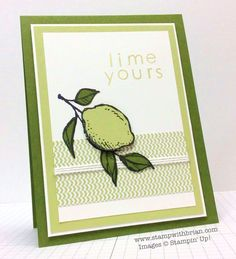 A Happy Thing, Back to Basics Alphabet, Stampin' Up!, Brian King, Lime Yours. Card Making Inspiration, Making Ideas, Bird Cards, Flower Cards, Greeting Cards Handmade, Homemade Cards, Stampin Up Cards, I Card, Cardmaking