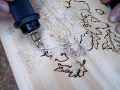 pirograbado en madera - YouTube