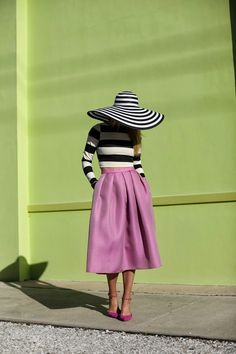 "sunshine & stripes - Atlantic - Pacific - Beautiful look from sunshine & stripes. Could it be the ""color of the year"", #RadiantOrchid? #Bloglovin' #DesignsbyCatbaluueandBigJ"