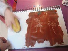 Peinture gouache cire