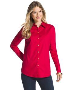 Embossed Eryn Red Shirt $89