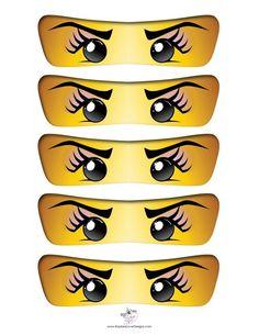 free printable ninjago eyes lego ninjago party in 2019 ninjago rh pinterest com