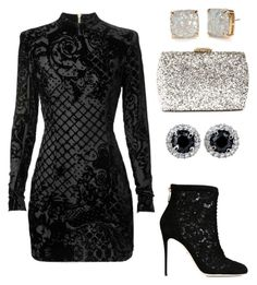 """""""Black Widow."""" by anastasia-crown on Polyvore featuring Balmain, Dolce&Gabbana, Lulu*s and Kate Spade"""