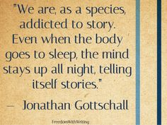 I believe everyone relies on stories to get through life