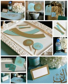 FREE Eid Printables that include a cupcake set, Eidi envelopes, Eid cards, gift tags and a party printable set