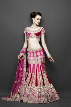 Featuring this beautiful bright pink lehenga with velvet patch work in our wide range of Lehengas . Grab yourself one. Now!