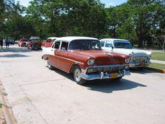 Holguin,Cuba Guardalavaca beach,old car