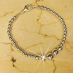 Silver Ball Bracelet Free Shipping by OsnatAmizurJD on Etsy