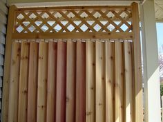 decking privacy screens | Small deck privacy screen - movable louvres to block view and wind