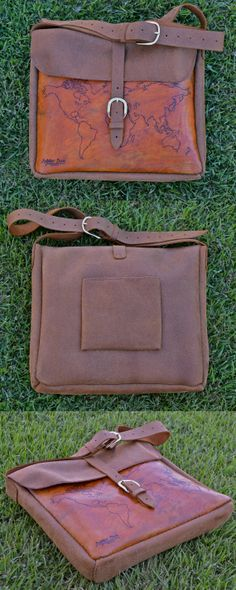 Sale  Engraved Hand Stitched Leather Messenger Bag by NaboriDaca, $250.00