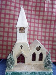 Vintage 1960's. Christmas Mica Putz Church with by TheIDconnection, $75.00