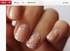 Unghie sposa 2014, le nail art in bianco effetto pizzo