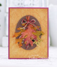 Leaf Cluster | Dietrich Designs #colleendietrichdesigns Sizzix Tattered Leaves, Tim Holtz, autumn, greeting card, Distress Inks