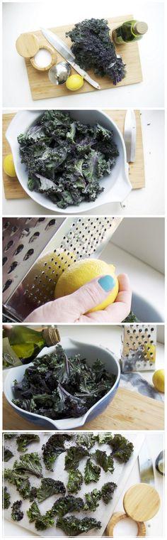 'Kale' me somethin' good... like these lemon-pepper kale chips!