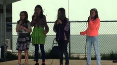 Rainbow Explosion at Earth Day, Courtenay Glitter Bomb, Earth Day, Chloe, Rainbow, Band, Live, Girls, Rain Bow, Toddler Girls