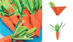 Party carrot cutlery