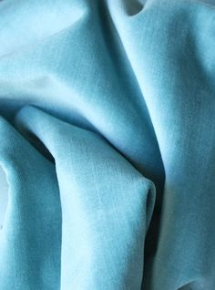 """velvet fabric for curtains; color is named """"water"""""""