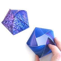 Candy shows how to make a puffy pentagon box. Template provided.