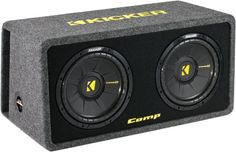Kicker DCompS102 (40DCWS102) Dual 10 CompS Series Loaded Subwoofer Enclosure Subwoofer Package Type - Enclosed Non-Powered Subwoofer. UPC - 713034064657. Impedance - Single 2ohm. Warranty - 1 YEAR. Condition - BRAND NEW IN ORIGINAL PACKAGING.  #Kicker #CarAudioOrTheater
