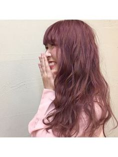 ピンクアッシュで美肌に見える!可愛い髪色画像♡ヘアカラーカタログ【2017】 - NAVER まとめ Funky Hairstyles, Pretty Hairstyles, Japanese Hair Color, Wavy Hair Perm, Hair Product Organization, Bob Haircut With Bangs, Hair Arrange, Japanese Hairstyle, Pink Hair