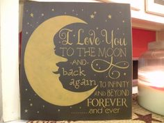 I Love You To The Moon and Back Again..... by OurPrimitiveKountry, $20.00