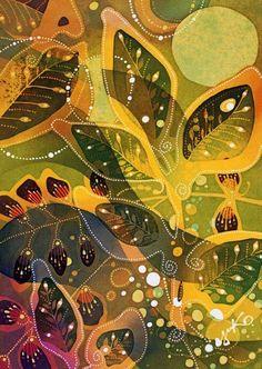 Indonesia: batik [painting on silk] by Japanese artist Yuko Nakata. Fabric Painting, Fabric Art, Batik Art, Silk Art, Japanese Artists, Pattern Art, Paisley Pattern, Anime Comics, Ancient Art
