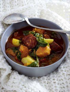 Unser beliebtes Rezept für Portugiesische Süßkartoffel-Suppe mit Wurst und mehr als 55.000 weitere kostenlose Rezepte auf LECKER.de.