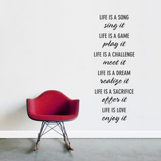A beautiful #wallquote about #life that would add charm to any room.