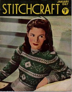 A link to a full copy of Vintage Stitchcraft Jan 1947