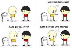 ¿Crees en fantasmas? Spanish Teacher, Teaching Spanish, Humor Grafico, Yolo, Peanuts Comics, Im Not Perfect, Funny Memes, Family Guy, Fictional Characters