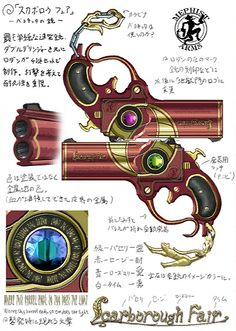 """Scarborough Fair is the name of Bayonetta's signature weapons from the first Bayonetta game, a set of four large caliber handguns that act as her default weapons. They are the only weapons that don't need to be unlocked by collecting Golden LPs, through clearing certain difficulties, or by completing a certain task. They are an all around weapon and are very popular with both newer and veteran players. """"Crafted by the famed demon-smith Rodin, these four guns have been crowned with the…"""