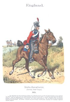 Vol 09 - Pl 36 - England Stabs-Kavallerist 1815 (Cavalry Staff Corps).