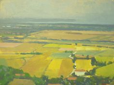 """©Frank Hobbs: """"Italy - Lago Trasimeno from Panicale,"""" oil on panel, 12 x 15 in."""