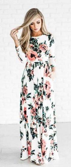 Autumn Long Dress Floral Print Boho Dress Tunic Maxi Dress Plus Size Women Party Dresses Sundress Vestidos Retro Robe Size S Color 0320 Dark Blue Vestido Maxi Floral, Floral Print Maxi Dress, Floral Dresses, Long Sleeve Floral Dress, Vintage Dresses, Pleated Maxi, Pleated Dresses, Chiffon Maxi, Print Chiffon