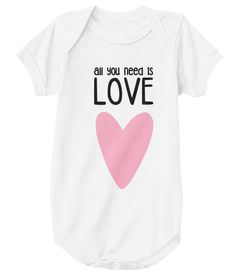 Baby Onesie - all you need is love ❤ | Teespring