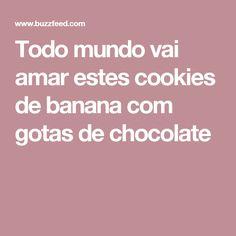 Todo mundo vai amar estes cookies de banana com gotas de chocolate